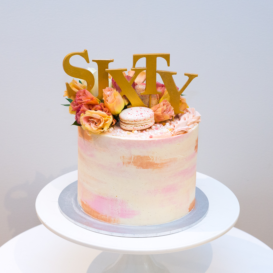 Watercolour Buttercream Birthday Cake