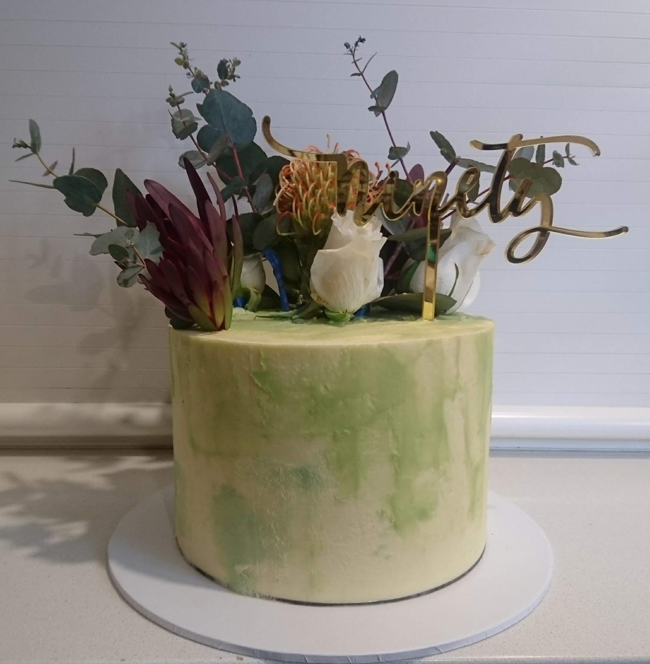 Watercolour Buttercream Birthday Cake