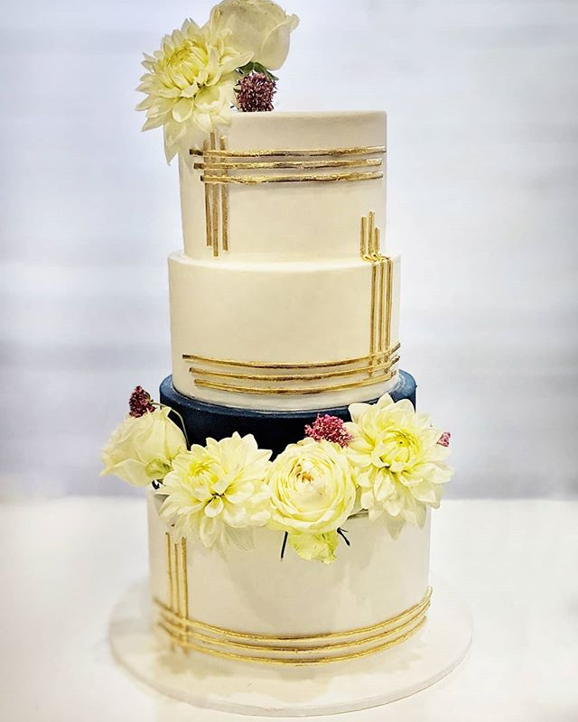 4 tier fondant wedding cake sydney